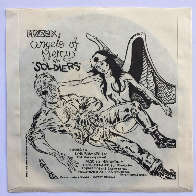 Fenzyx - Soldiers c/w Angels of Mercy - [single cover back]